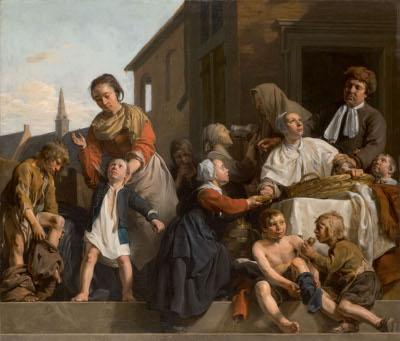 Het verzorgen van de kinderen van het Arme-Kinderhuis: drie Werken van Barmhartigheid