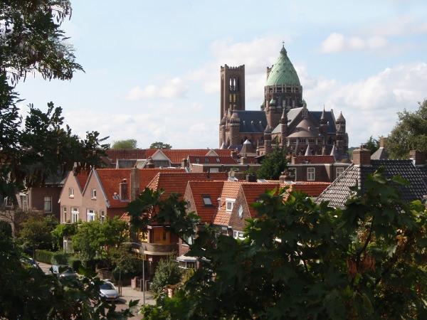 De Bavo kathedraal, oostkant, Haarlem