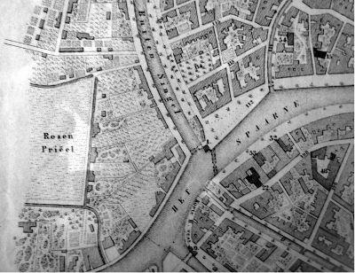 Detail van kaart van Haarlem in zaal 2